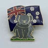 Koala with Flag